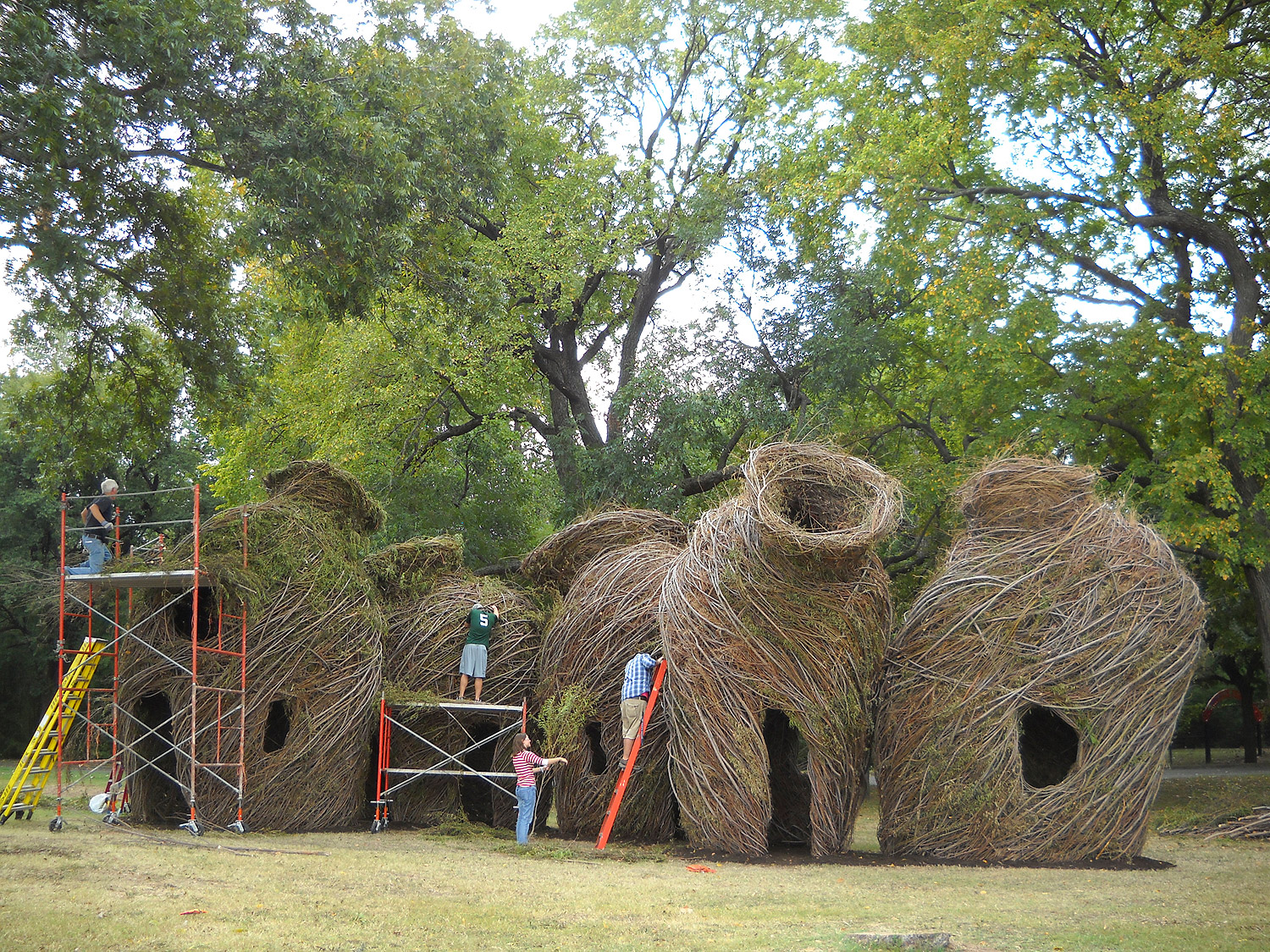 23. River Vessels, in progress (2010), Waco Cultural Arts Festival, Waco, TX.