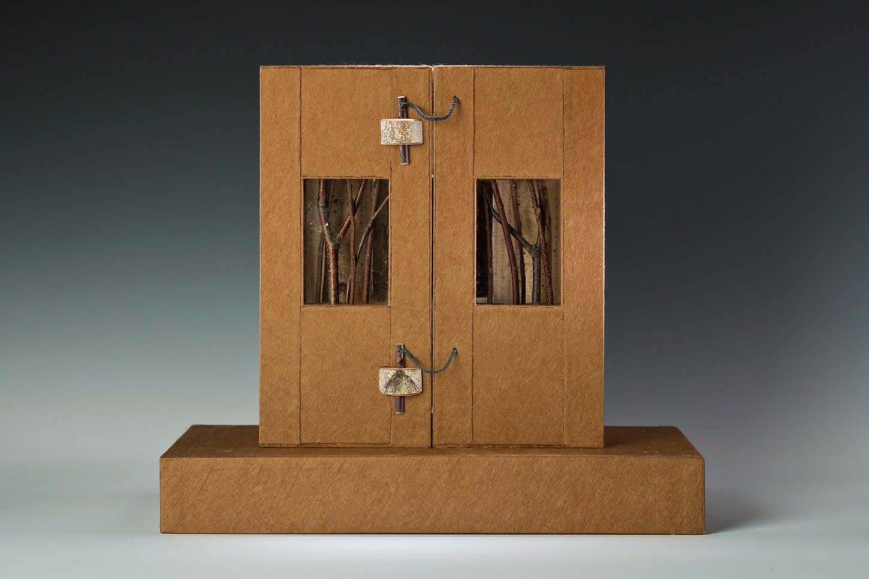 "Tea House North (altarpiece, closed), 11"" x 12"" x 7"" (2012)"