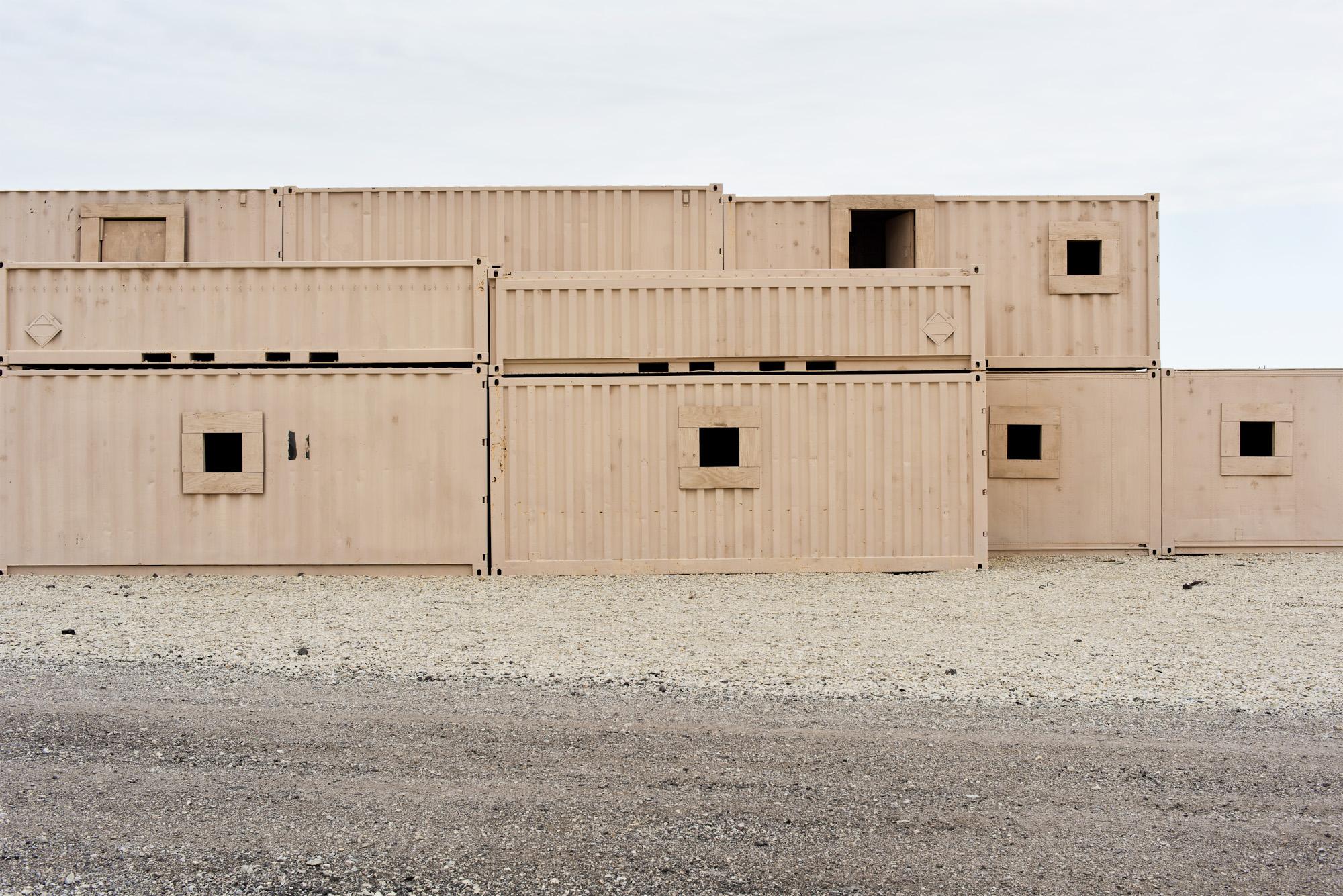 18. Stepped Housing, Live Fire Village #2, Fort Riley, KS