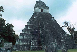 image, Tikal's Temple of the Giant Jaguar.