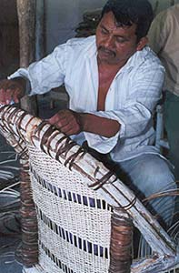 image, Uaxactun chair weaver.