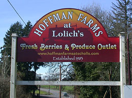 Hoffman Farms at Lolich's: Fresh berries and produce outlet.