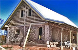 Cordwood home under construction