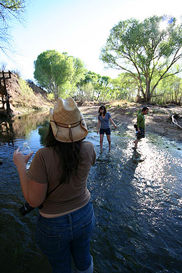 UA college students and San Pedro River