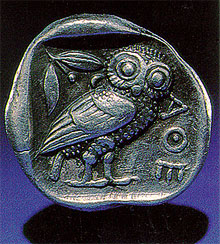 Coin with owl