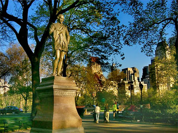 William Shakespeare statue in New York's Central Park