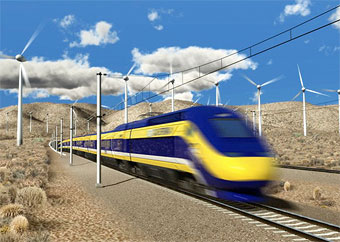 Rending of high-speed train