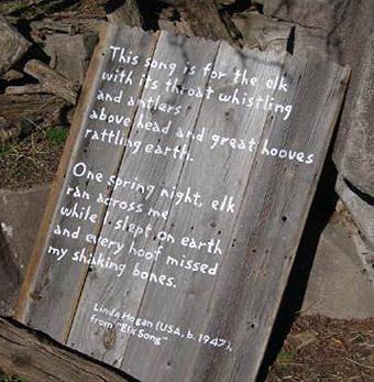 """Inside the Elk Yard, """"Elk Song"""" by Linda Hogan."""