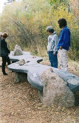 River bench dedication.