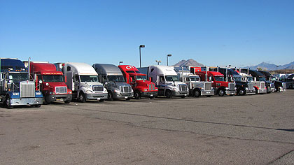 Semi trucks at Nogales Pilot Travel Center
