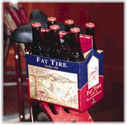 Fat Tire beer, named after the bicycle. Photo courtesy of New Belgium Brewing Company.
