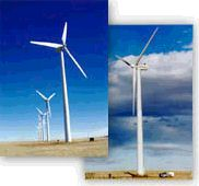 Windsource turbines. Photos courtesy of Public Service Company of Colorado.