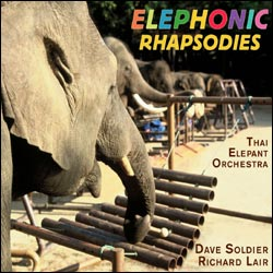 Elephonic Rhapsodies: Thai Elephant Orchestra album cover.