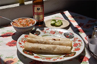 The rolled fish tacos at La Hamaca in Bahia de los Angeles, Baja California Norte, could well be Simmons' favorites.