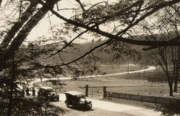 "Real picture postcard, circa 1927: ""Horeshoe Trail, Bedford Springs Hotel."""
