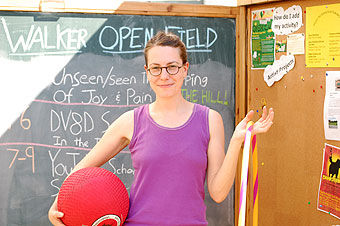 Sarah Peters and teh Open Field Tool Shed