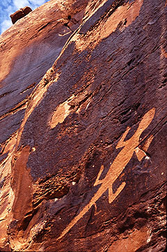 Petroglyph at Dinosaur National Monument
