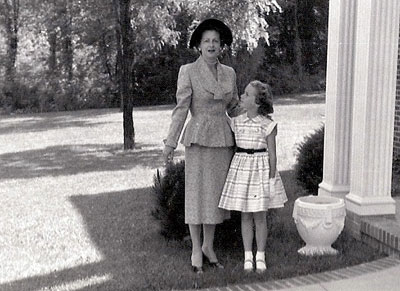 Deborah Fries with her mother in the 1960s