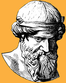 Illustration of Plato bust