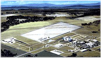 The Goshute Nuclear Waste Repository site.  Photo courtesy Skull Valley Band Goshute Tribe