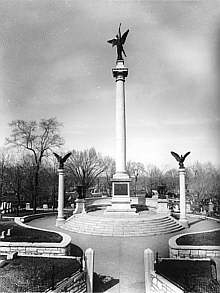 The Lovejoy monument. Photo courtesy Alton Convention and Visitors Bureau