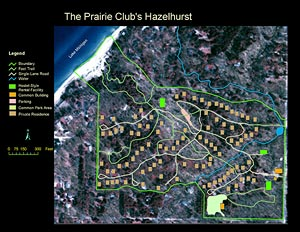 The Prairie Club's Hazelhurst USGS map. Click to view larger image.