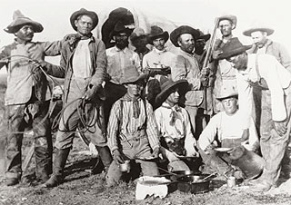 Diamond A Outfit cowboys, 1880s.