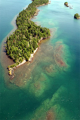 Gneiss Shoals at Shaw Island, Isle Royale National Park.