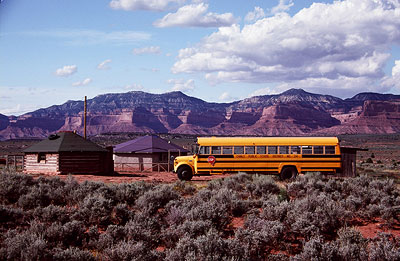 School bus on Navajo lands.
