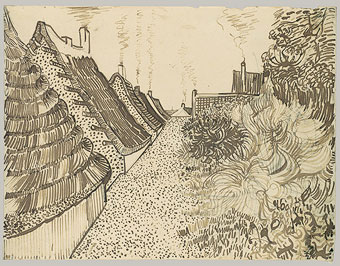 """Street in Saintes-Maries"" by Vincent van Gogh."