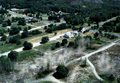 image, Aerial view of Centralia, Pennsylvania in 2000, smoking. Photo courtesy www.CentraliaPA.com.