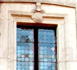 image, Window with stained glass.