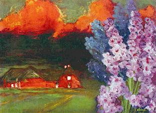 "Emil Nolde's ""Sultry Evening,"" 1930, courtesy of Tigertail Virtual Museum"