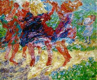 "Emil Nolde's ""Wildly Dancing Children,"" 1909, courtesy of Mark Harden's Artchive"