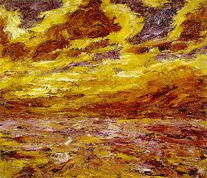 "Emil Nolde's ""Autmn Sea VII,"" 1910, courtesy of Tigertail Virtual Museum"