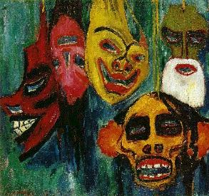 "Emil Nolde's ""Mask Still Life III,"" 1911, courtesy of Mark Harden's Artchive"