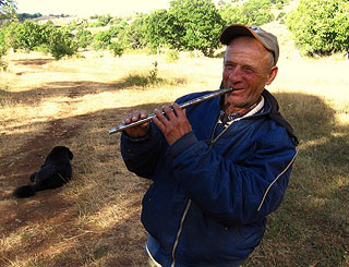Man with flute