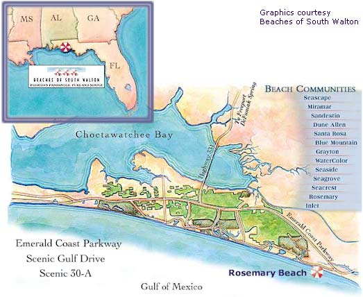 Rosemary Beach Florida Map Rosemary Beach, Florida, Location Map