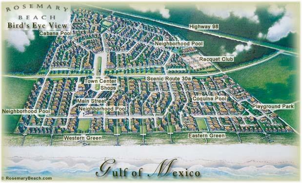 Rosemary Beach, Florida, Conceptual Site Plan