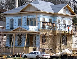 Southern Living Idea House under construction.