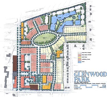 Glenwood Park site plan. Click image for larger view.