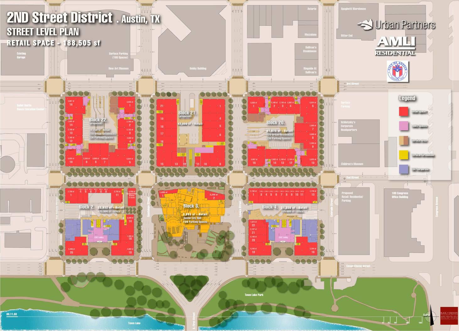 Site Plan Second Street District in Austin Texas – City Of Austin Site Plan Application