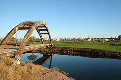 Bridge on golf course. Photo by Simmons Buntin.