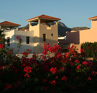 Courtyard homes across from the Inn at Loreto Bay.