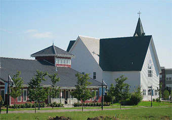 Bradburn Village church and preschool.