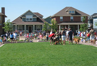 Party on a park—a regular occurance at Bradburn Village.