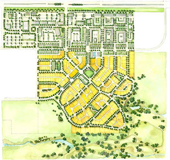 Bradburn Village Site Plan.