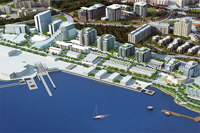 3D rendering of Dockside Green.