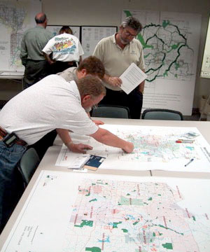 Planners collaborate on one of the MetroGreen regional plans.