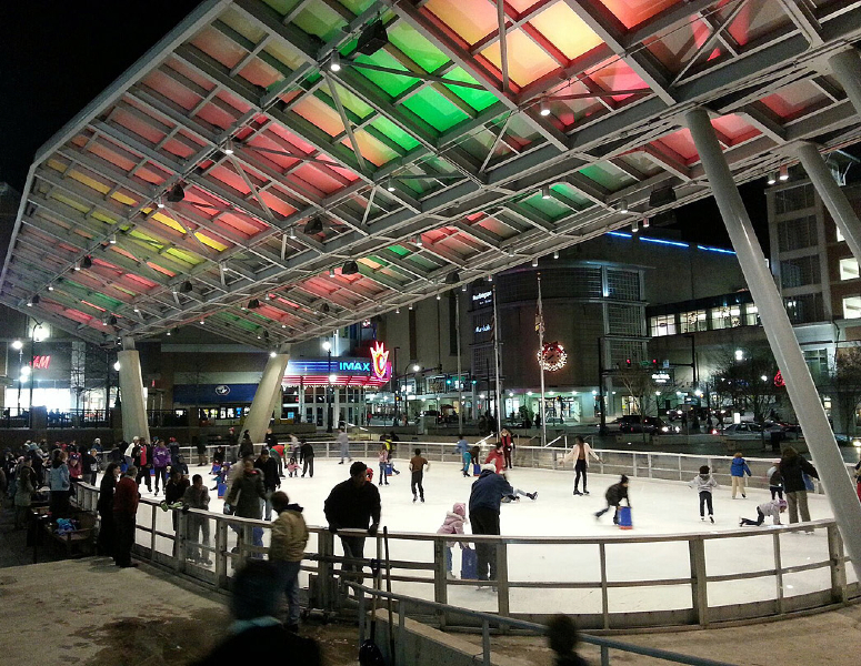 Ice Skaing at Veterans' Plaza